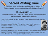 For Writer's Notebooks: Sacred Writing Time Slide Sampler: