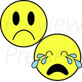 VIPKid Demo Me, Myself and I Lesson -  Sad Emoji Props (Frowning and Crying)
