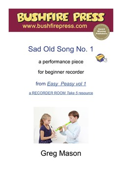 Recorder Music: Beginners - Sad Old Song No. 1