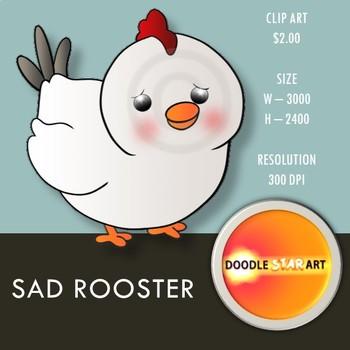 Sad Rooster Clip Art