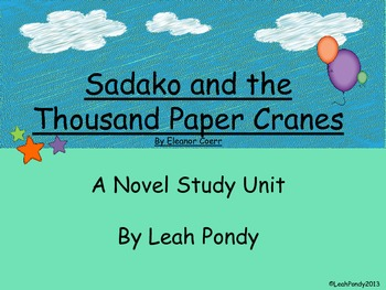 Sadako and the Thousand Paper Cranes Activities