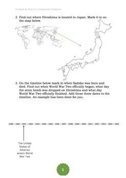 Sadako and the Thousand Paper Cranes - Novel Study