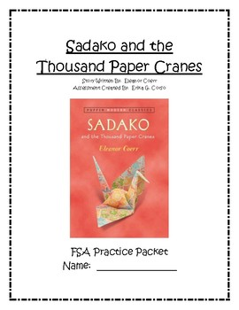 Sadako and the Thousand Paper Cranes Test Prep Chapters 1-3