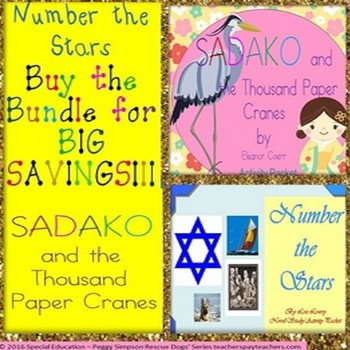 Sadako & the Thousand Paper Cranes  & Number the Stars Bundle SPED/ESL