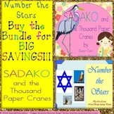 Sadako & the Thousand Paper Cranes  & Number the Stars Bundle SPED/ESL