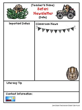 Safari Theme Newsletter