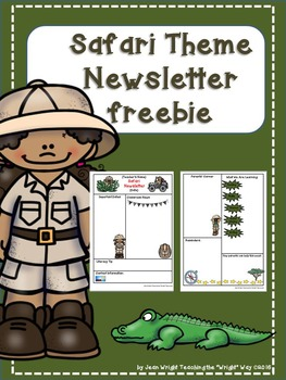 Safari Theme Newsletter