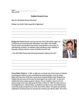 Saddam Hussein & Iraq