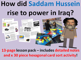Saddam Hussein's Rise to Power - 13-page full lesson (notes, card sort)