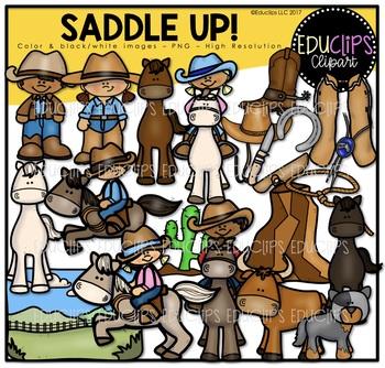 Saddle Up Clip Art Bundle  {Educlips Clipart}