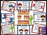 Saddle Up for Success Test Taking Skills Bulletin Board Kit for Test Prep