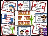 Saddle Up for Success Test Taking Skills Bulletin Board Kit for Test Prep