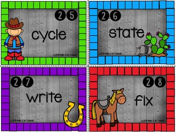 Saddle Up with Prefix and Suffix Task Cards and Scoot