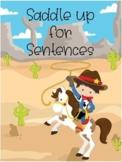 Sentence worksheet (with word banks)