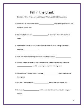 Sadlier:  Level A - Unit 11 Test w/ Answer Key (Editable)