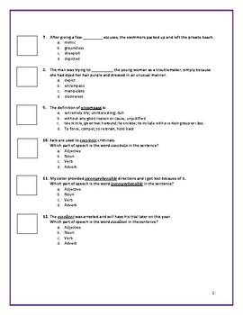 Sadlier:  Level A - Unit 2 Test w/ Answer Key (Editable)