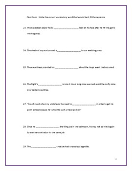 Sadlier:  Level A - Unit 5 Test w/ Answer Key (Editable)