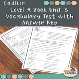 Vocabulary Workshop Level A Unit 5