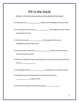 Sadlier:  Level A - Unit 8 Test w/ Answer Key (Editable)