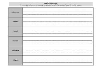 Sadlier Level B Unit 2 Sentences Words 1-10