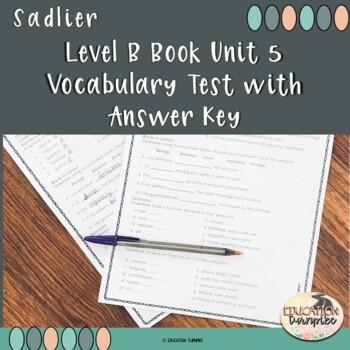 Level B Unit 5 Test