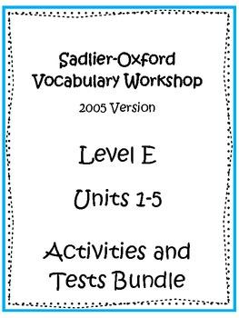 Sadlier-Oxford Level E Units 1-5 Complete Bundle