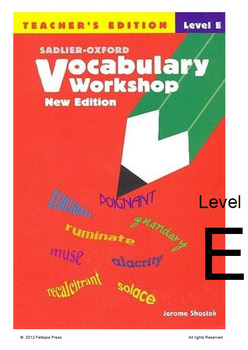 Sadlier-Oxford Vocab Workshop Level E tests 11-15