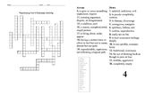 Sadlier Oxford Vocabulary Level B Unit 4 Crossword