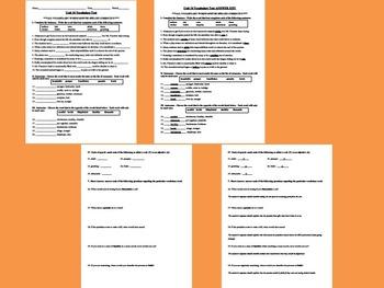 sadlier oxford vocabulary workshop level b unit 10 test tpt. Black Bedroom Furniture Sets. Home Design Ideas