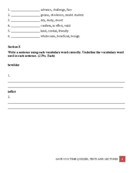 Sadlier-Oxford Vocabulary Workshop Level B Unit 4 With Answer Key