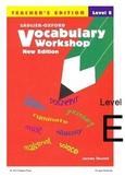 Sadlier-Oxford Vocabulary Workshop Level E tests