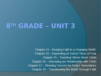 Sadlier Publishing We Live Our Faith Volume 2 Unit 3 Power Point