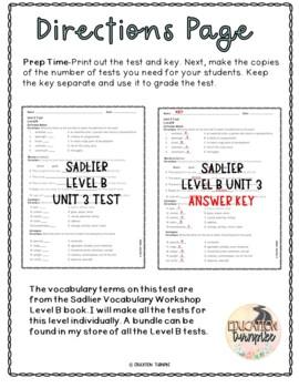 Vocabulary Workshop Level B Unit 3