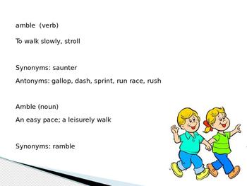 Sadlier Vocabulary Workshop Level A -- Unit 11 Powerpoint