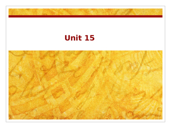 Sadlier Vocabulary Workshop Level A -- Unit 15 Powerpoint