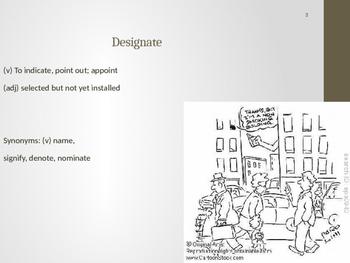 Sadlier Vocabulary Workshop Level A -- Unit 3 Powerpoint