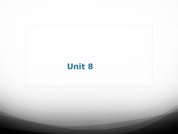 Sadlier Vocabulary Workshop Level A -- Unit 8 Powerpoint