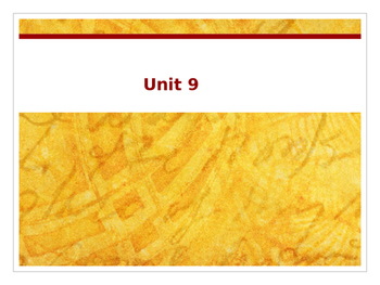 Sadlier Vocabulary Workshop Level A -- Unit 9 Powerpoint