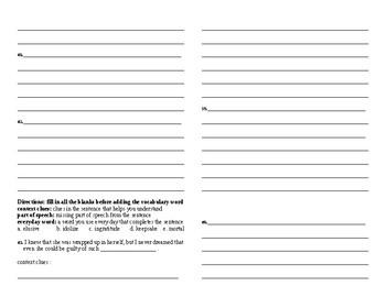Sadlier Vocabulary Workshop Unit 4 1-10 Level A