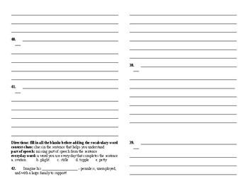 Sadlier Vocabulary Workshop Unit 4 11-20 Level A