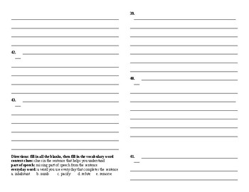 Sadlier Vocabulary Workshop added worksheet Unit 5 11-20 Level A