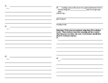 Sadlier Vocabulary Workshop added worksheet Unit 6 11-20 Level B