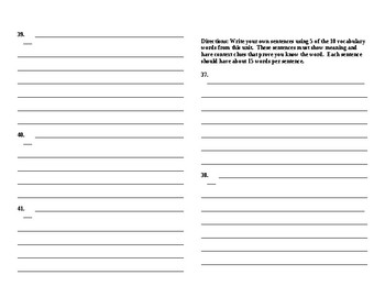 Sadlier Vocabulary Workshop added worksheet Unit 7 11-20 Level A