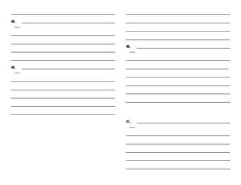 Sadlier Vocabulary Workshop added worksheet Unit 9 1-10 Level A