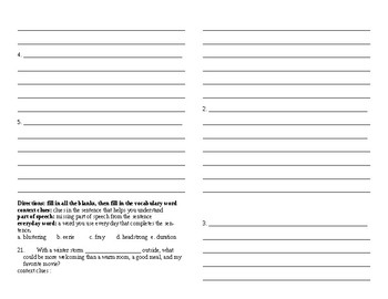 Sadlier Vocabulary Workshop worksheet Unit 4 1-10 Level A