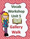 Sadlier's Vocabulary Workshop Level Orange 4th Gr Unit 5 G