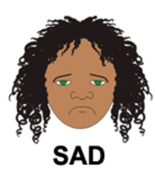 Sadness - 1 of 9 Faces of Emotions for Emotional Intelligence (EQ) Curriculum