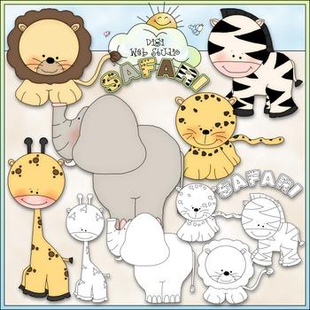 Safari Clip Art - Jungle Animals Clip Art - Zoo Animals -