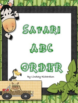 Common Core Aligned Safari ABC Order