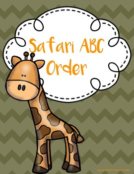 Safari ABC Order